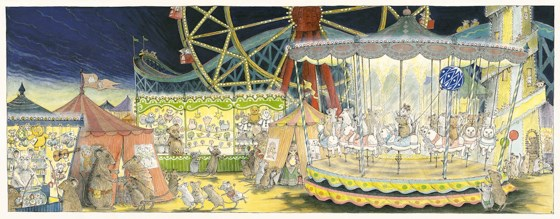 Angelina at the Fair....... on the carousel by Helen Craig at the Saffron Walden Gallery
