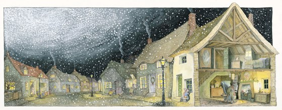 Angelina's Christmas ..... inside Mr. Bell's house by Helen Craig at the Saffron Walden Gallery