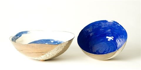 Coil bowls by Tracy Ford at the Saffron Walden Gallery