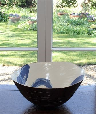 Large bowl by Tracy Ford at the Saffron Walden Gallery