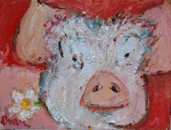 Pig II by Deborah Donnelly at the Saffron Walden Gallery