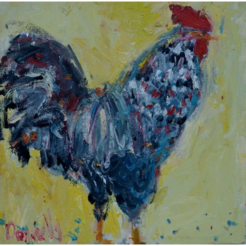 Yellow Chicken by Deborah Donnelly at the Saffron Walden Gallery