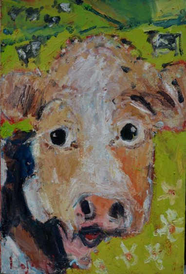 Curious Cow by Deborah Donnelly at the Saffron Walden Gallery