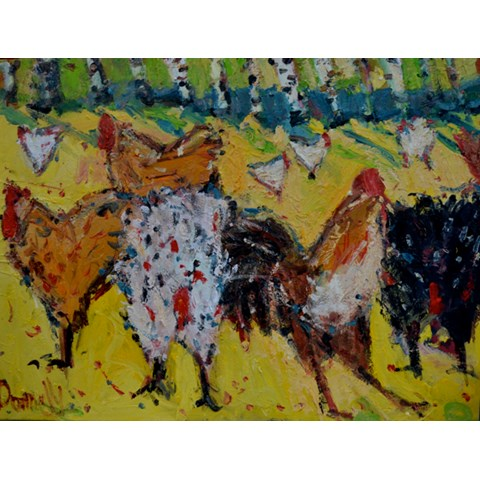 Chicken Run by Deborah Donnelly at the Saffron Walden Gallery