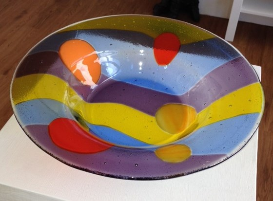 Spotty Fruit Bowl by Clare Butfield at the Saffron Walden Gallery