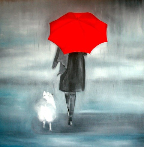 Raining Cats & Dogs by Emily Jarvis at the Saffron Walden Gallery