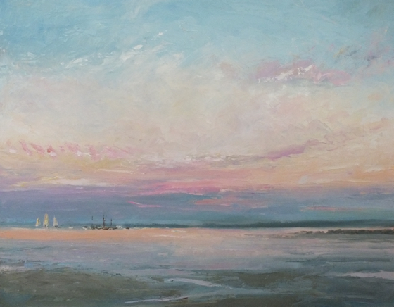 North Norfolk Coast by Stephen James at the Saffron Walden Gallery