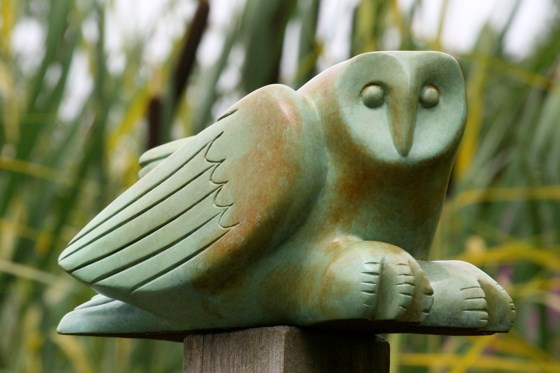 Walberswick Owl by Laurence Broderick at the Saffron Walden Gallery