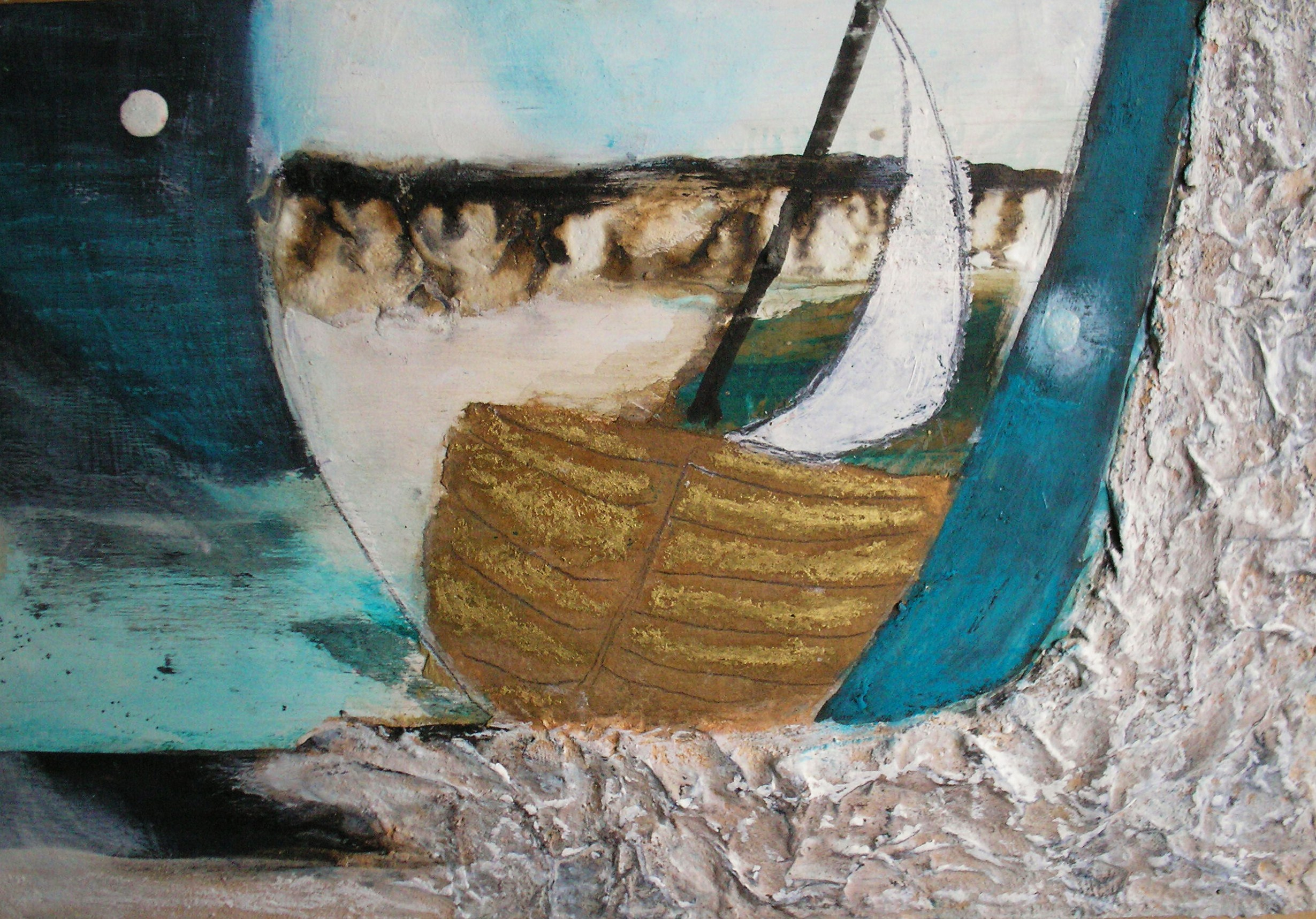 Voyage by Gail de Cordova at the Saffron Walden Gallery