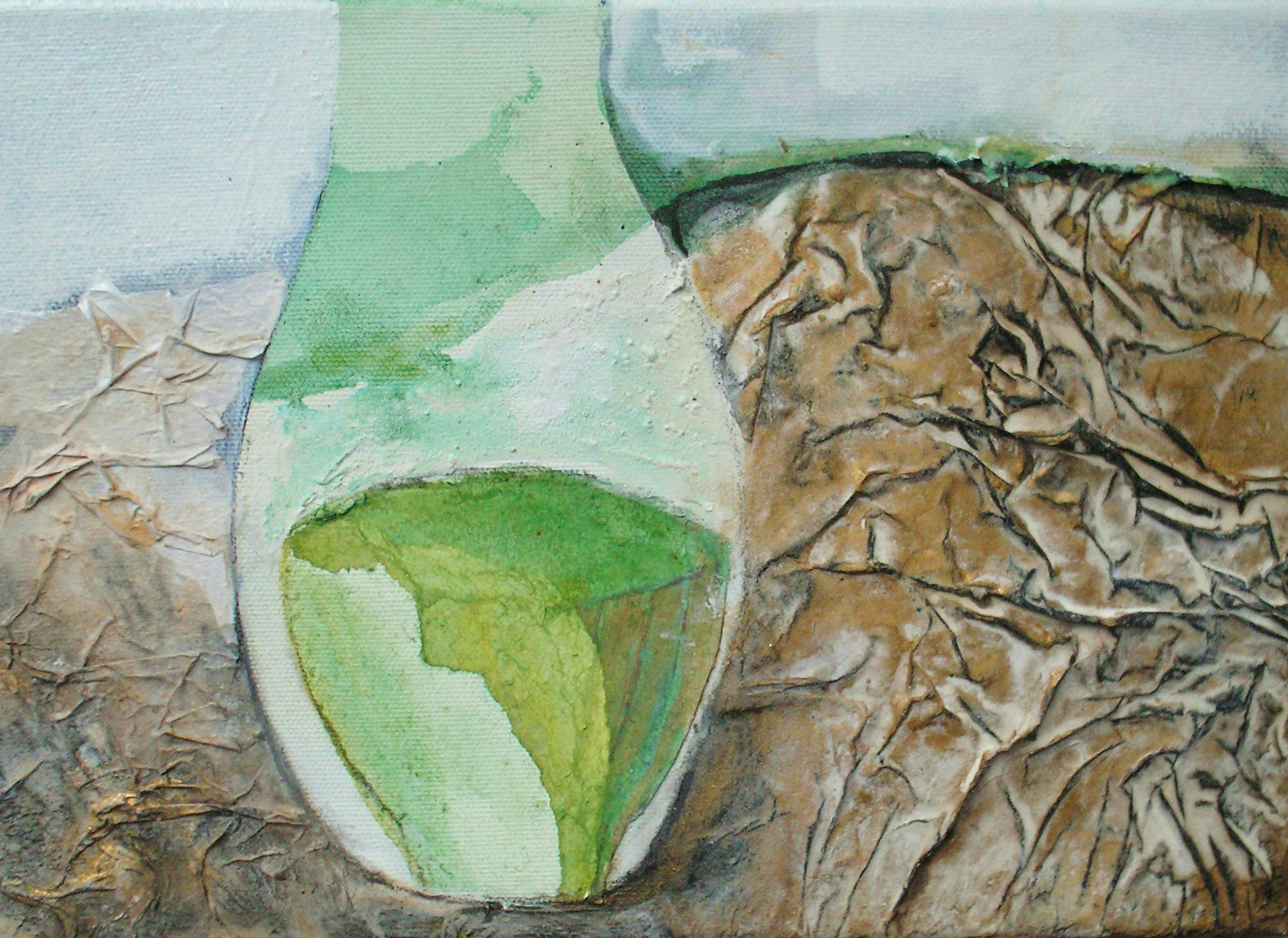 Spring vessel by Gail de Cordova at the Saffron Walden Gallery