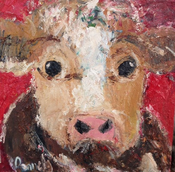 Red Cow by Deborah Donnelly at the Saffron Walden Gallery