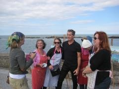 Pierce Brosnan visits Deborah Donnelly