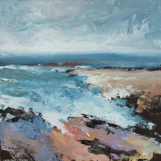 Purbeck Coast II by Stephen J Foster at the Saffron Walden Gallery