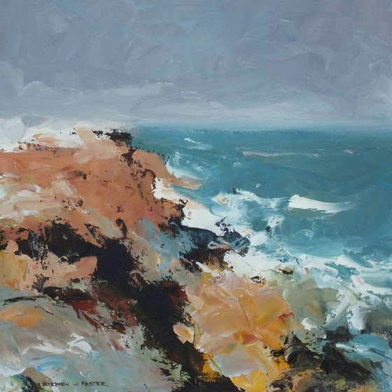 Purbeck Coast III by Stephen J Foster at the Saffron Walden Gallery
