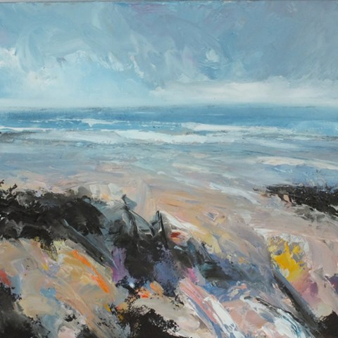 North Norfolk Coastal Scene by Stephen J Foster at the Saffron Walden Gallery