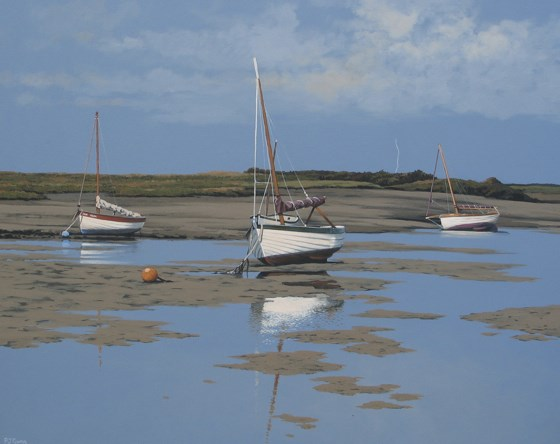 Passing Storm Burnham Overy Staithe by Paul J Gunn at the Saffron Walden Gallery