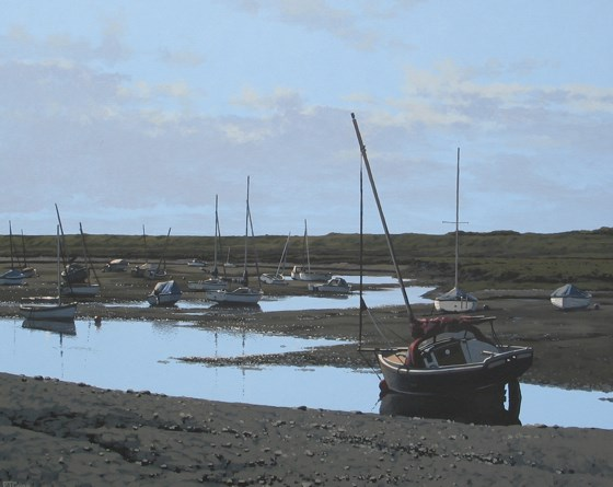 Evening at Brancaster by Paul J Gunn at the Saffron Walden Gallery
