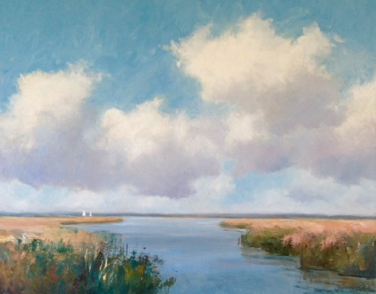 Morston Marshes by Stephen James at the Saffron Walden Gallery
