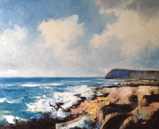 Kimmeridge, Purbeck Coast by Stephen J Foster at the Saffron Walden Gallery