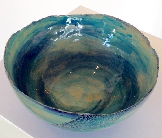 Small Earthenware Bowl by Tracy Ford at the Saffron Walden Gallery