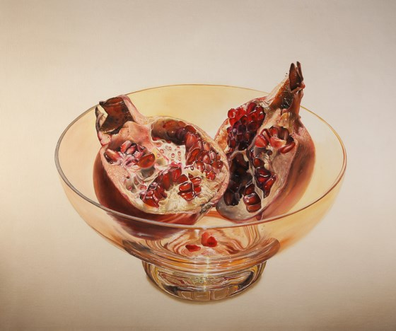 Pomegranates by Anthony J Parke at the Saffron Walden Gallery