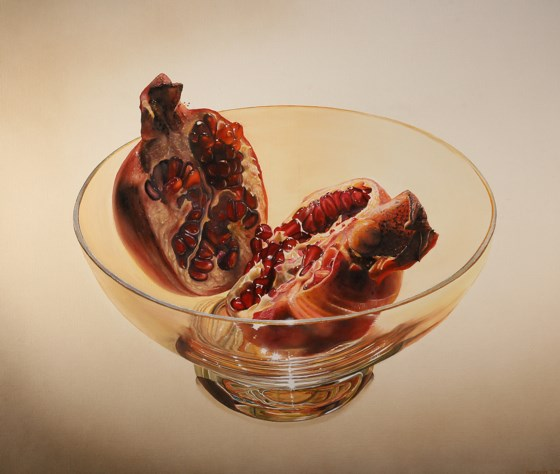 Pomegranates II by Anthony J Parke at the Saffron Walden Gallery