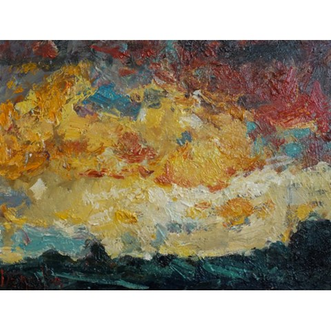 Glowing Sunset by Deborah Donnelly at the Saffron Walden Gallery