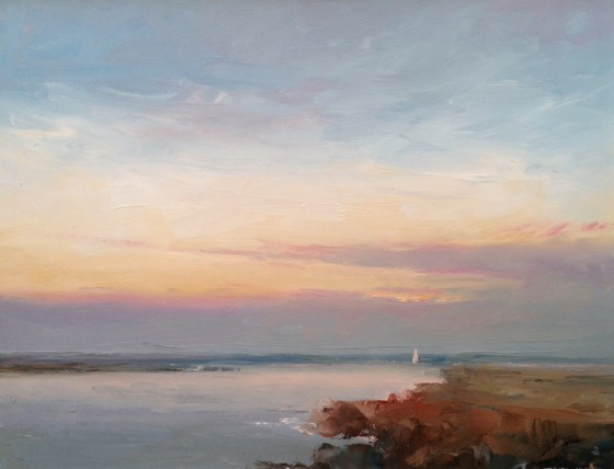 North Norfolk Sunset by Stephen James at the Saffron Walden Gallery