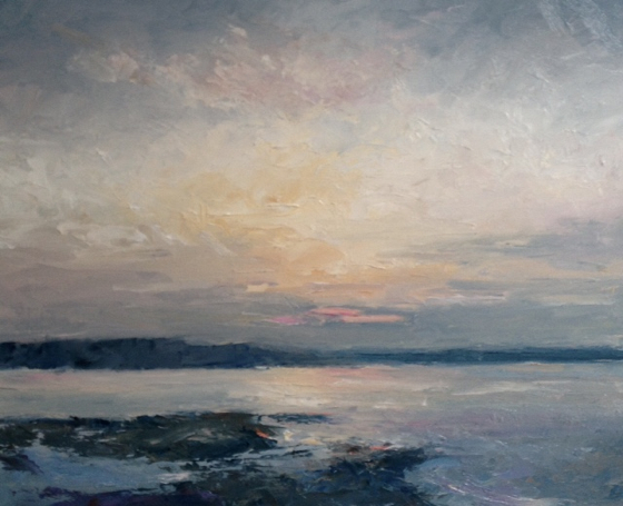 Across the Estuary by Stephen James at the Saffron Walden Gallery