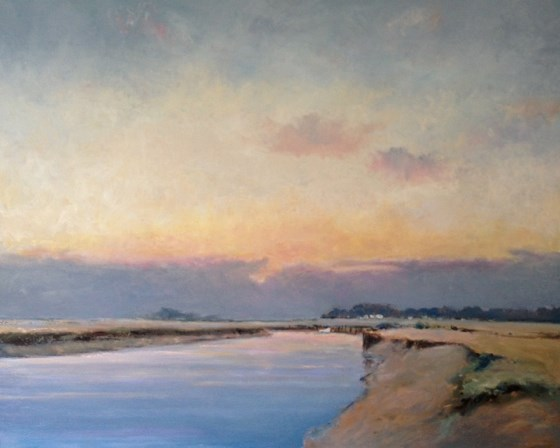 Norfolk View by Stephen James at the Saffron Walden Gallery