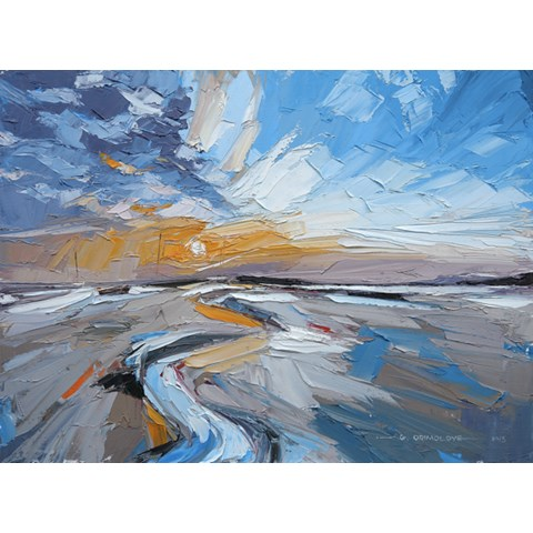 Low Tide at Brancaster Staithe by Daniel Gbenga Orimoloye at the Saffron Walden Gallery