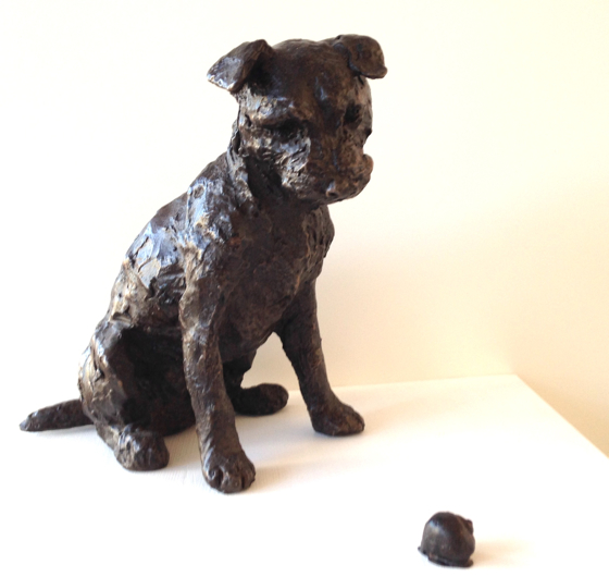 Jaxon & Snail, Border Terrier by Rosemary Cook at the Saffron Walden Gallery