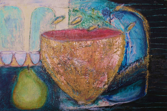 Grandmother's Bowl by Gail de Cordova at the Saffron Walden Gallery