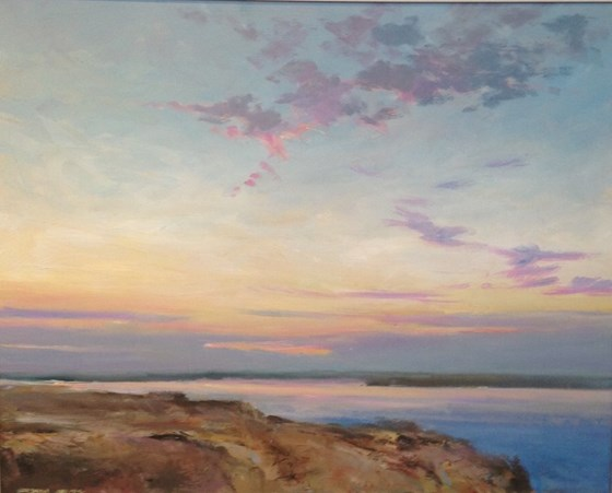 North Norfolk Evening by Stephen James at the Saffron Walden Gallery