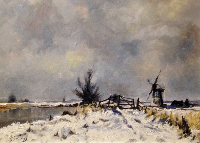 Winter at Thurne Mill, Suffolk