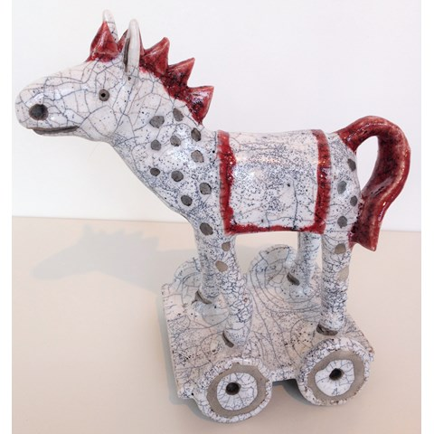 Horse on Wheels by Demelza Whitley at the Saffron Walden Gallery