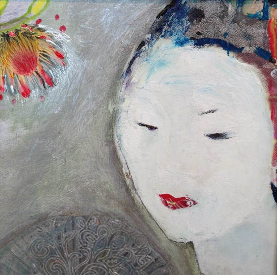 Japanese Snow by Jelena Lukic at the Saffron Walden Gallery
