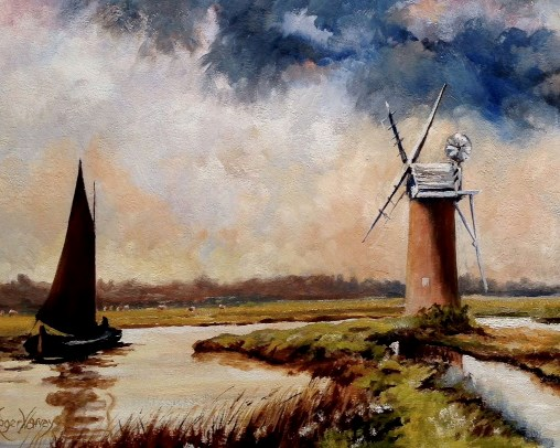 Mill on River Ant, Norfolk by Roger Harvey at the Saffron Walden Gallery