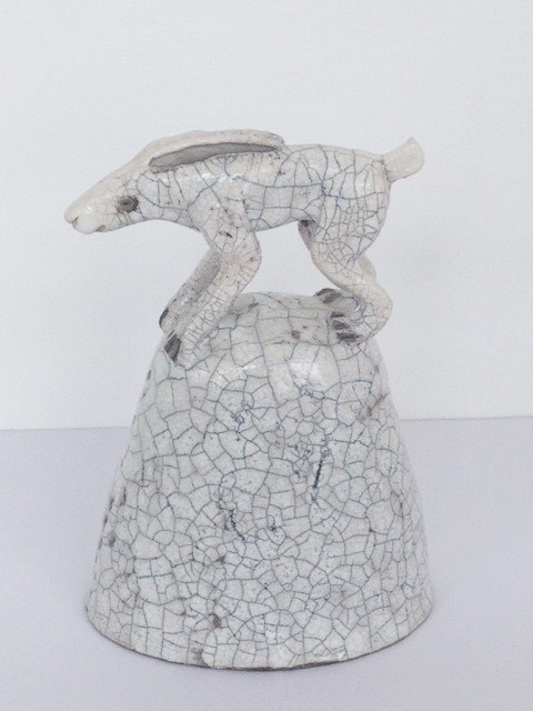 Hare on a Hill by Demelza Whitley at the Saffron Walden Gallery