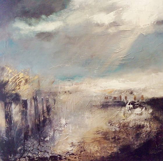 East Coast Storm Break by Nikki Sims at the Saffron Walden Gallery