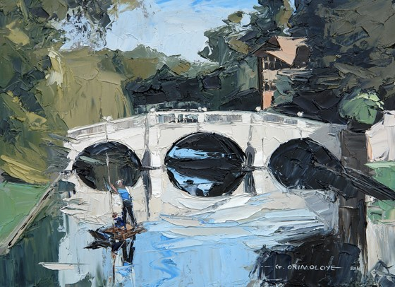 Clare College Bridge, Cambridge at the Saffron Walden Gallery