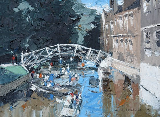 Mathematical Bridge, Cambridge by Daniel Gbenga Orimoloye at the Saffron Walden Gallery