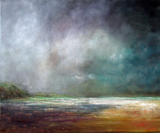 Last light by John Tregembo at the Saffron Walden Gallery