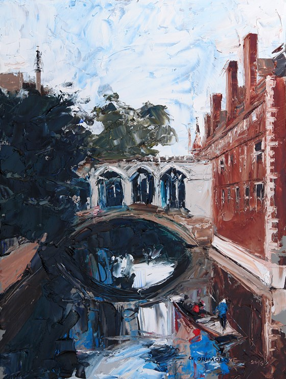 Bridge of Sighs III, Cambridge by Daniel Gbenga Orimoloye at the Saffron Walden Gallery