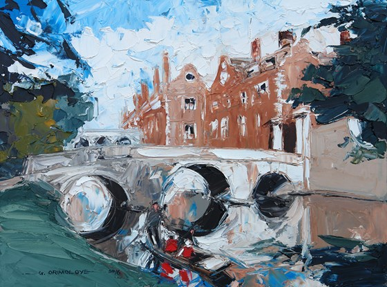 Kitchen Bridge, St John's College, Cambridge by Daniel Gbenga Orimoloye at the Saffron Walden Gallery