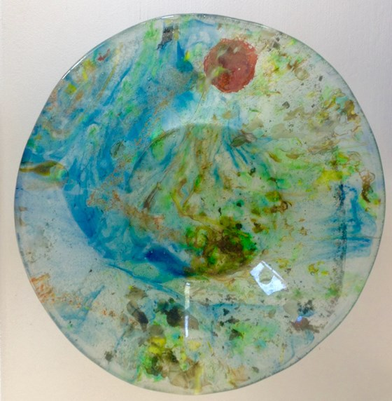 Poppy dish by Clare Butfield at the Saffron Walden Gallery