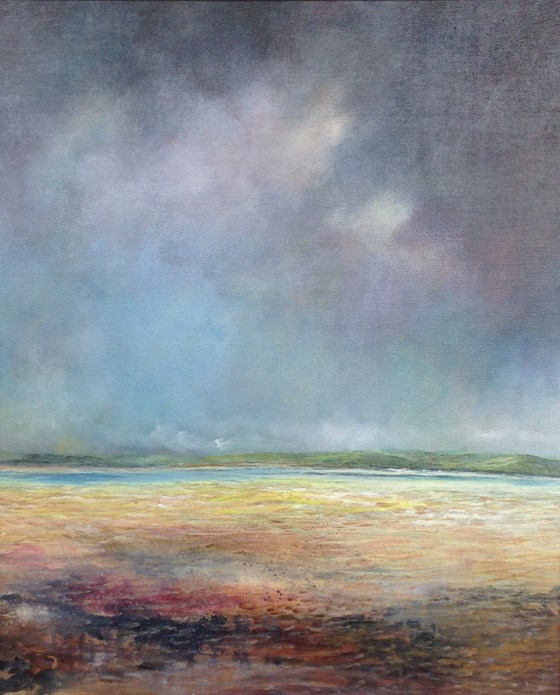 Tregirls from Daymer by John Tregembo at the Saffron Walden Gallery
