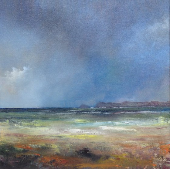 A Windswept Day by John Tregembo at the Saffron Walden Gallery