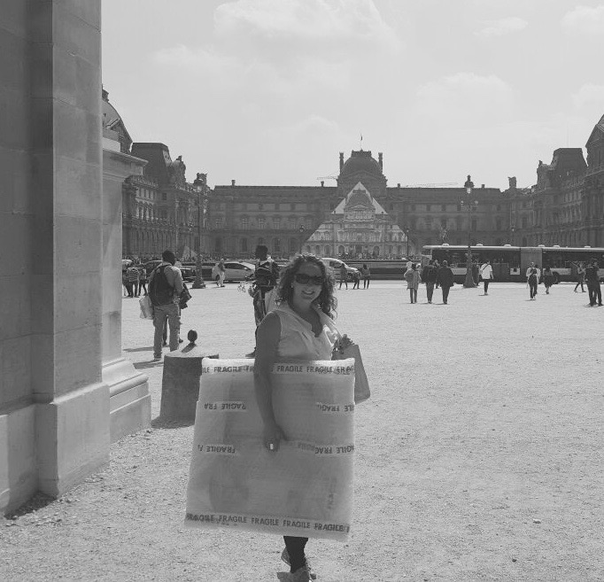 EJ at The Louvre