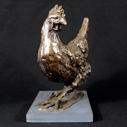 Strutting Hen by Laura Pentreath at the Saffron Walden Gallery